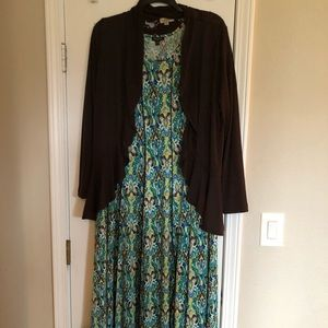 ONE WORLD Dresses   Plus Size Dress And Cardigan Set 2x   Poshmark